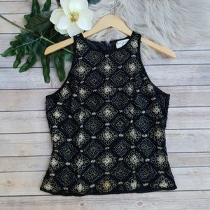Vintage Papell Beaded Formal Top - Size Medium